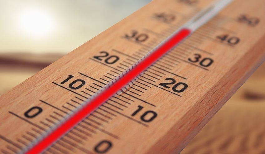 High Temperature on Thermometer